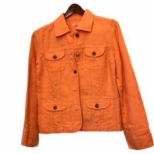J Jill linen jacket XS